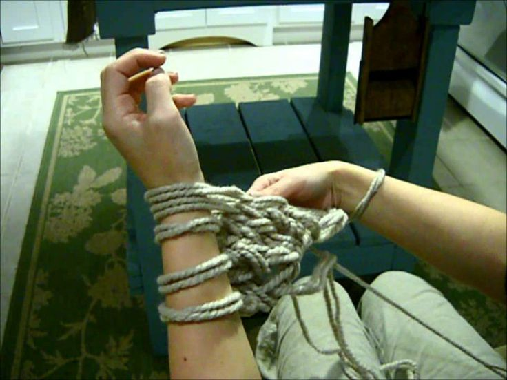 How to Arm Knit - The Fastest Way to Knit a Chunky Scarf! UPDATED, via YouTube.