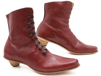 Red boot in which to spread the love: Cydwoq Venus! xo, Pedshoes.