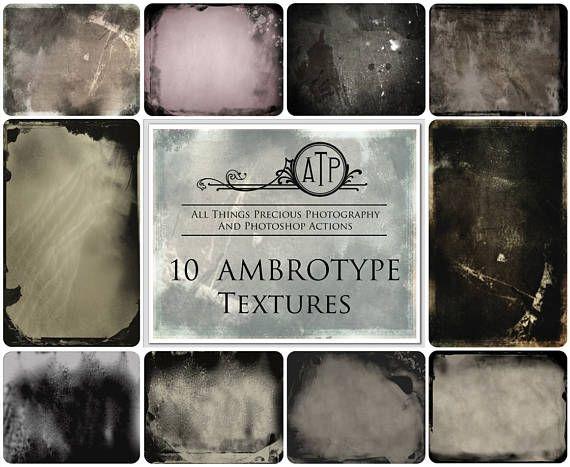 Fine Art Digital AMBROTYPE Vintage photo Textures / Overlays