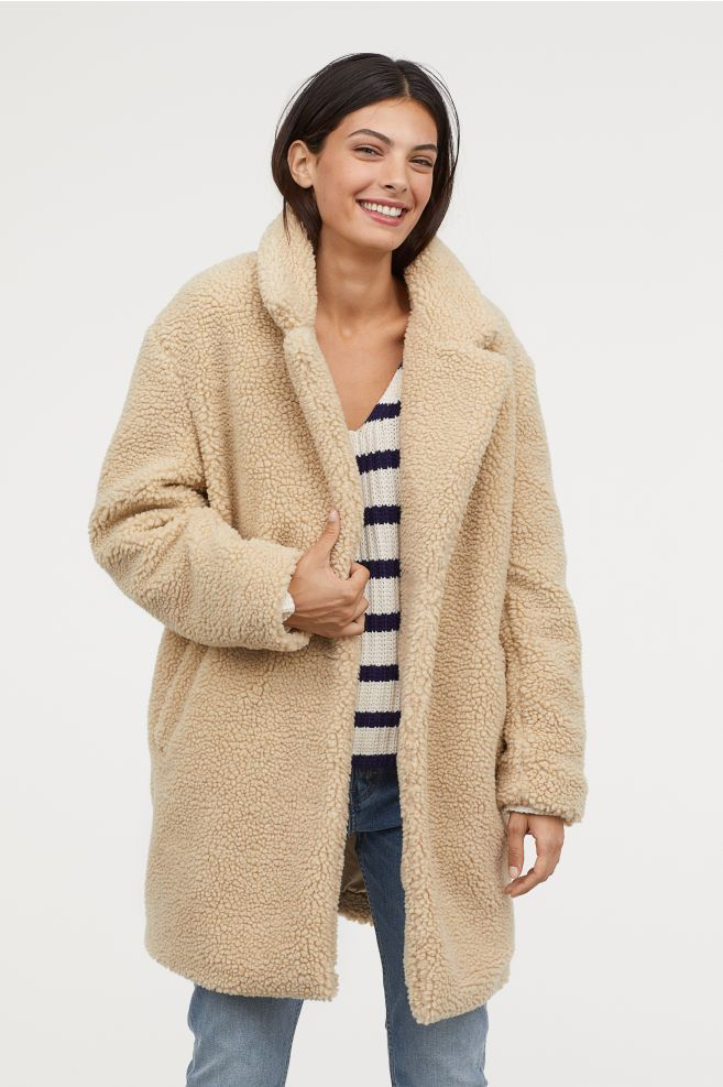 hot products the best attitude hot new products Short Pile Coat | Faux shearling coat, Faux shearling jacket ...