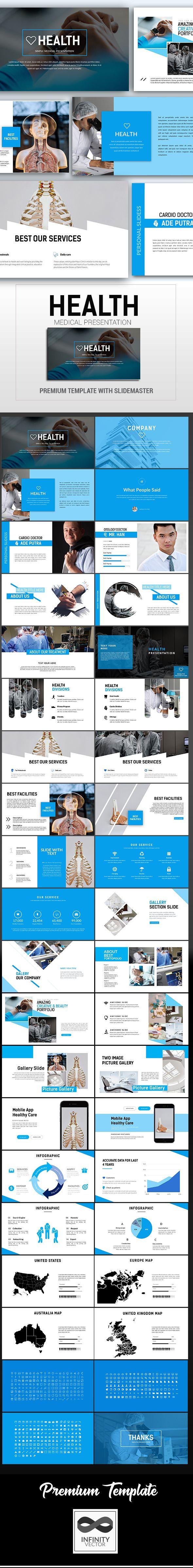 health simple medical presentation google slide - google slides, Presentation templates