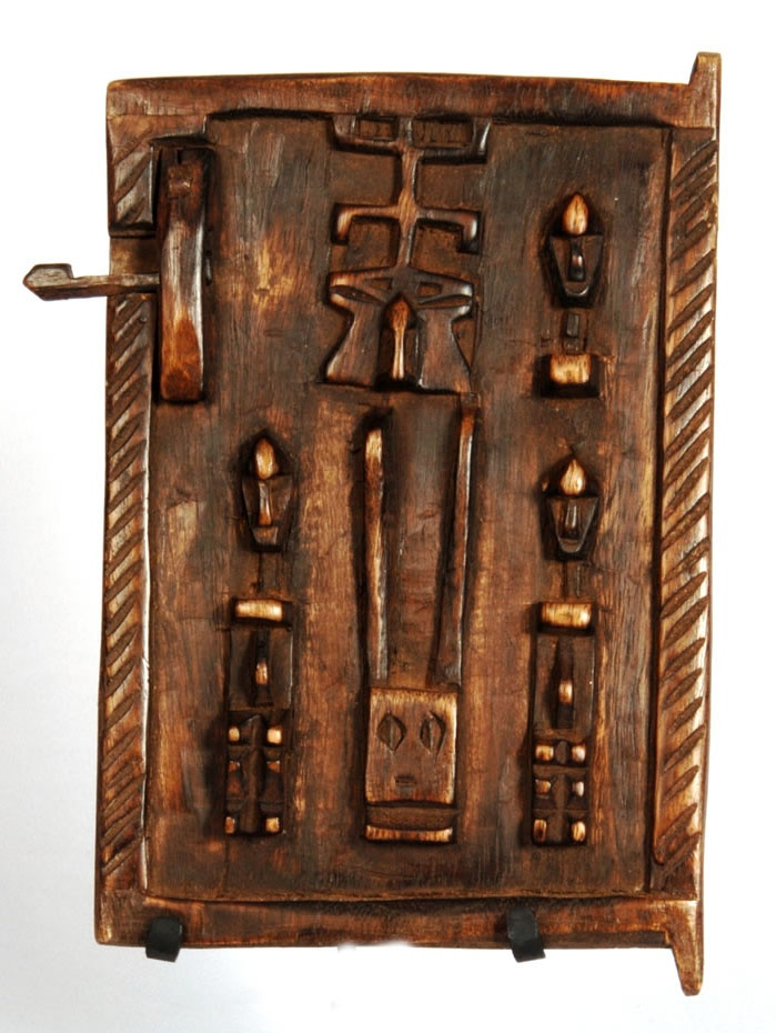 Africa | Hand carved granary door from the Dogon people of Mali | Wood