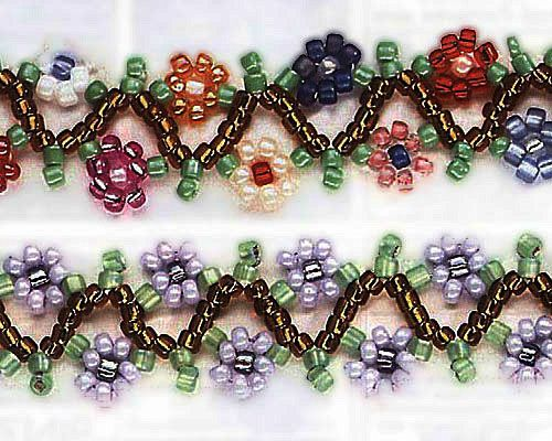 beaded wire flower patterns | Free Seed Bead Patterns seed bead patterns general beading patterns ...