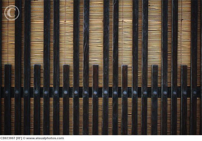 Afscheiding van hout en bamboe, prachtige sfeer.