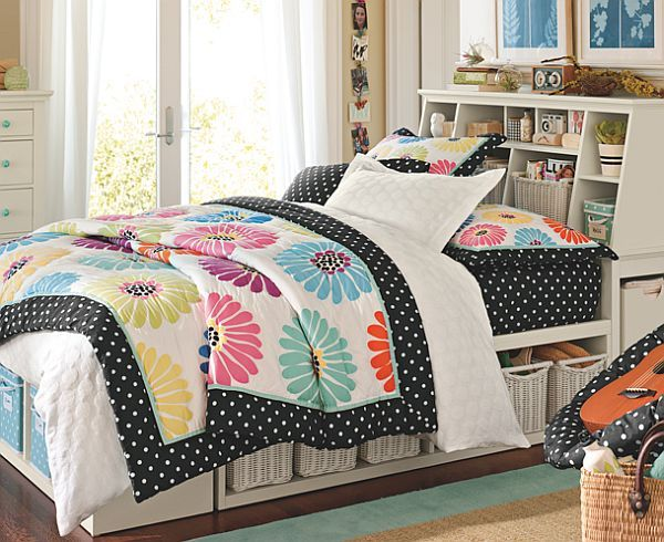 --Love the comforter!-55 Room Design Ideas for Teenage Girls