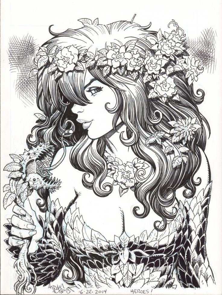 Poison Ivy By Arthur Adams In 2019  Coloring Books, Adult -1229