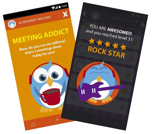 Sneak peek into #gamification side! http://igg.me/at/wimble #productivity #mobileapps #crowdfunding