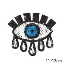 1 unidades DIY Punk Style pequeñas lentejuelas forma de los ojos parches de hierro en apliques(China (Mainland))