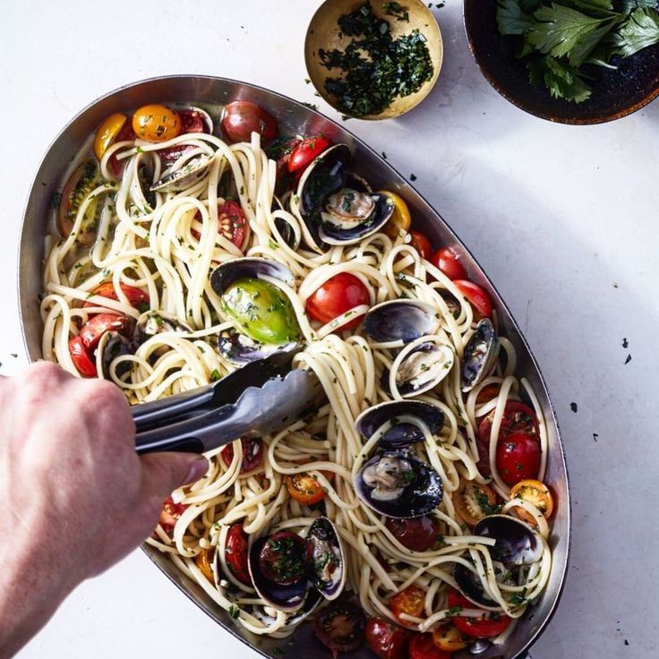 #Spaghetti alle vongole , @ninagarcia favorite !The Recipe is in my #cookbook #cookingwithzac Available in bookstores and online.