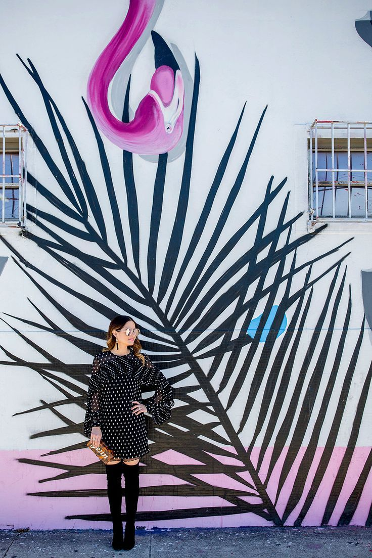 Street Walls | Pink Flamingo Mural Miami Wynwood