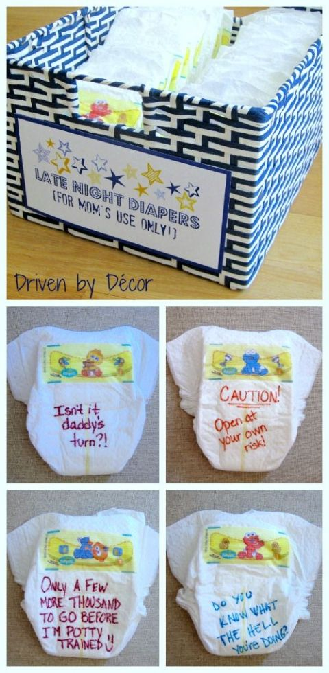 Late Night Diapers Baby Shower Activity - The Best!!