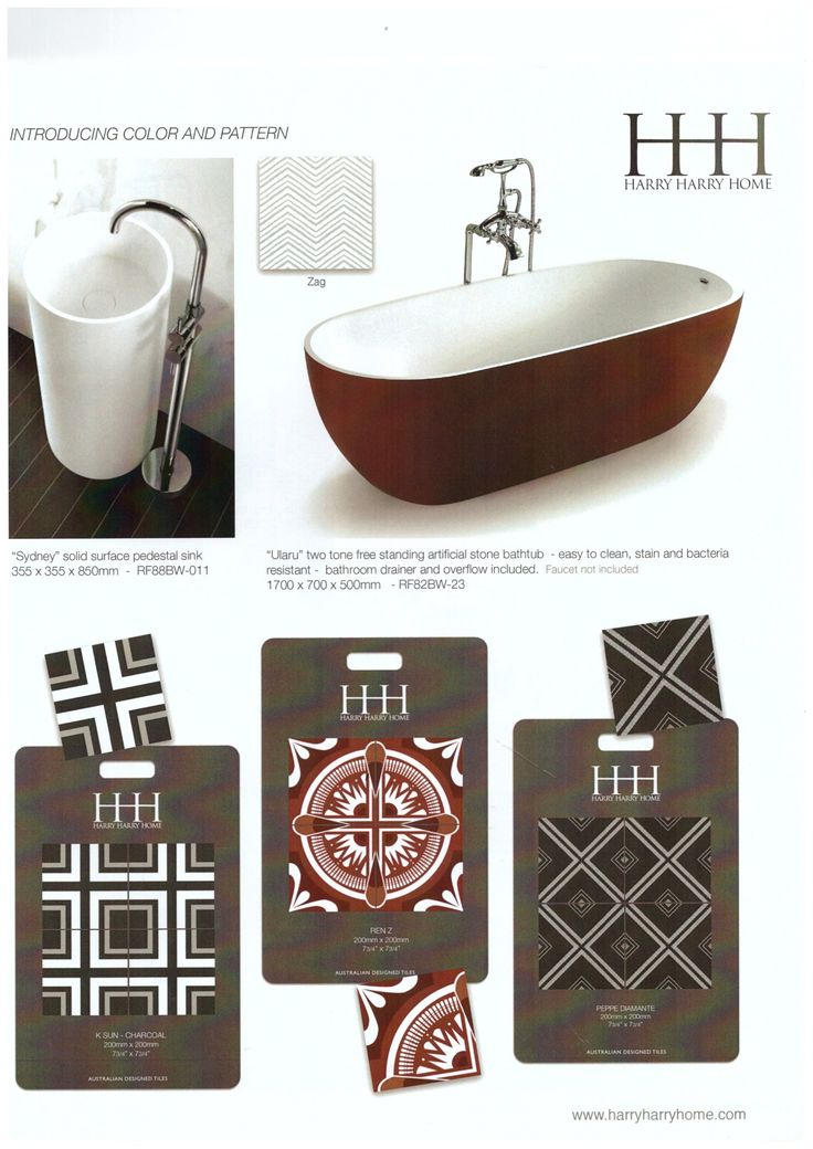 Red baths and matching red tiles will make you the envy of your friends!