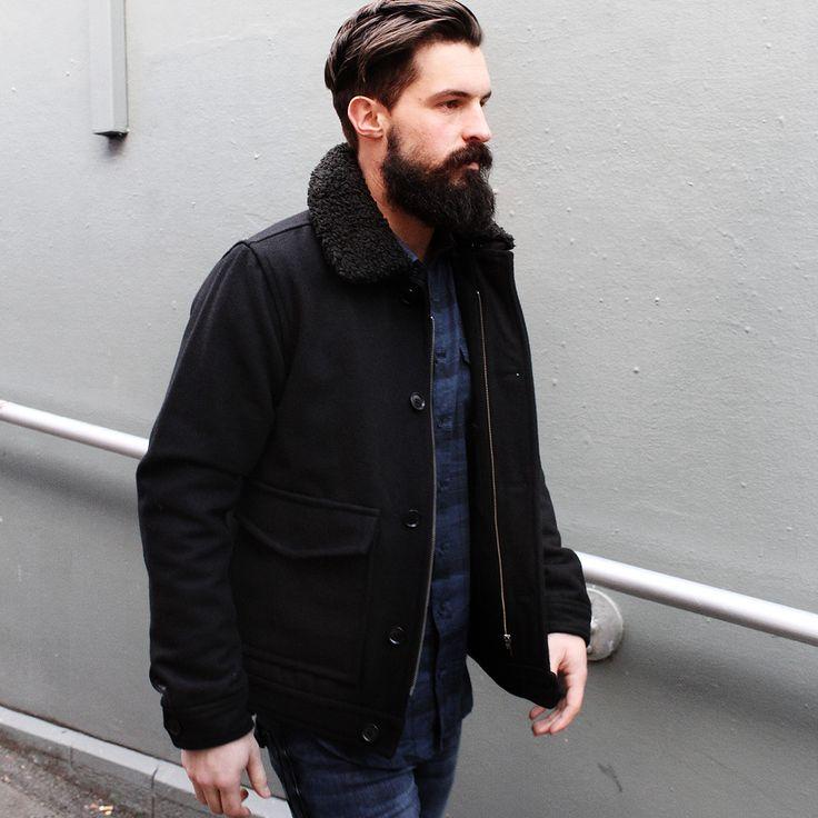 Autonomy Clothing Mens Winter 15 Bomber Jacket with Shearling collar mens Check shirting  Melbourne menswear  Australian Fashion design