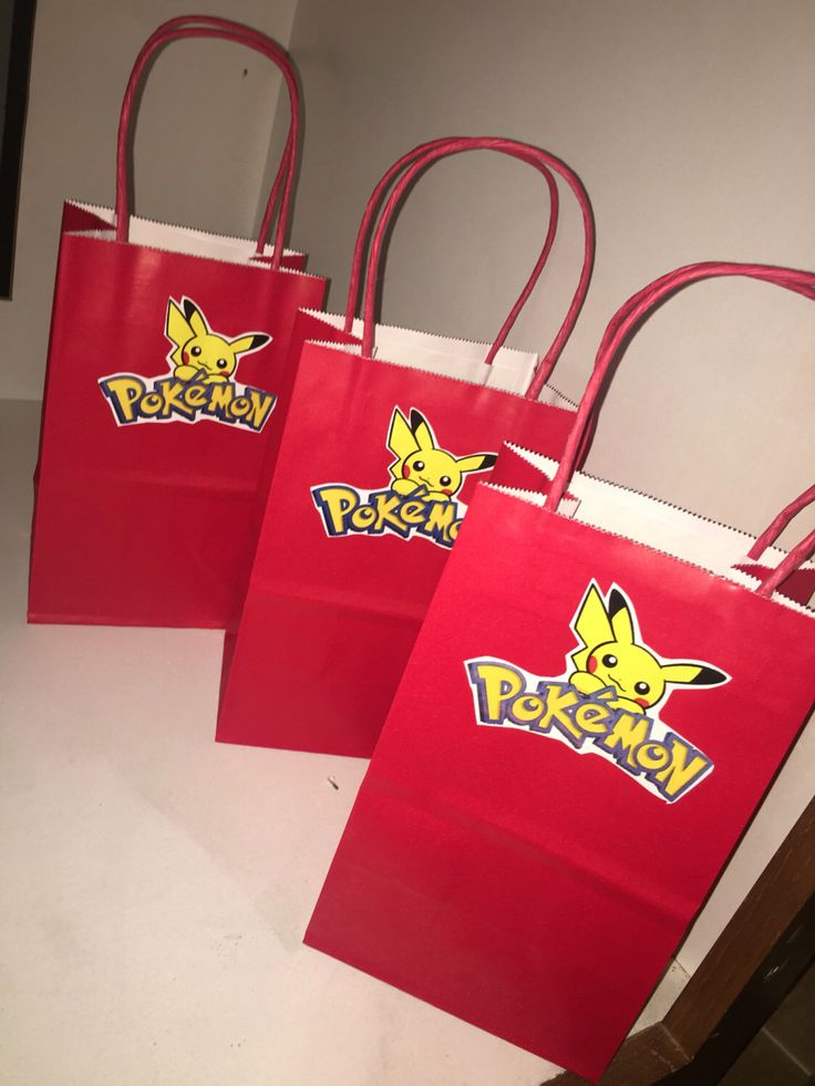 Pokemon Candy Bags, Pokemon Party, Pokemon party decorations, Party supplies by FantastikCreations on Etsy https://www.etsy.com/listing/385638586/pokemon-candy-bags-pokemon-party-pokemon