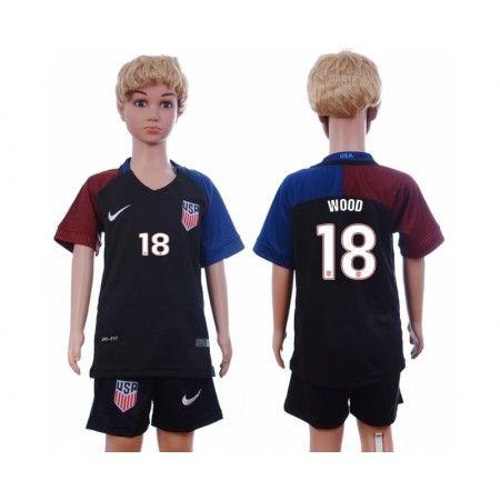 USA Trøje Børn 2016 #Wood 18 Udebanetrøje Kort ærmer.199,62KR.shirtshopservice@gmail.com