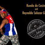 Rueda de Casino mit Reynaldo Salazar Guilen  Am 17.09.2016 bringt Reynaldo Salazar Guilen unser Tanzstudio zum kochen. Ein Muss für alle die Rueda de Casino lieben! Mit seiner unvergleichlich mitreißenden Art wird er uns in drei einstündigen Workshops so richtig einheizen. Es gibt wohl kaum einen anderen Tanzlehrer der es so versteht die Kursteilnehmer/innen gleichzeitig bis zum Anschlag zu motivieren und dabei []  Mehr Salsa Bachata Kizomba Informationen auf salsastisch.de.