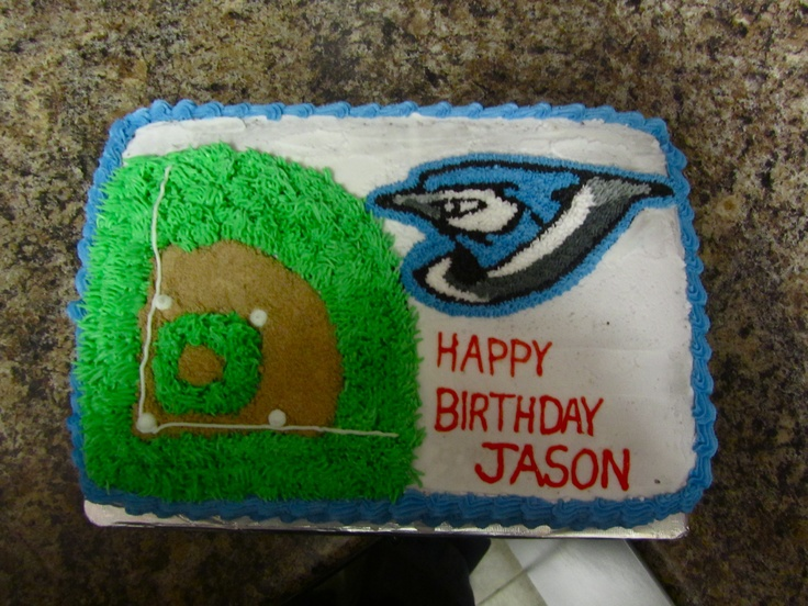 Toronto Blue Jays Cake - For Brother-in-law.