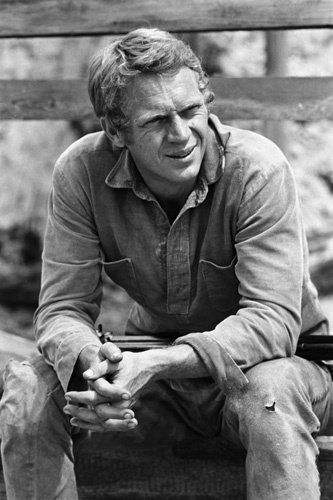 """Steve McQueen during the making of """"Nevada Smith"""""""