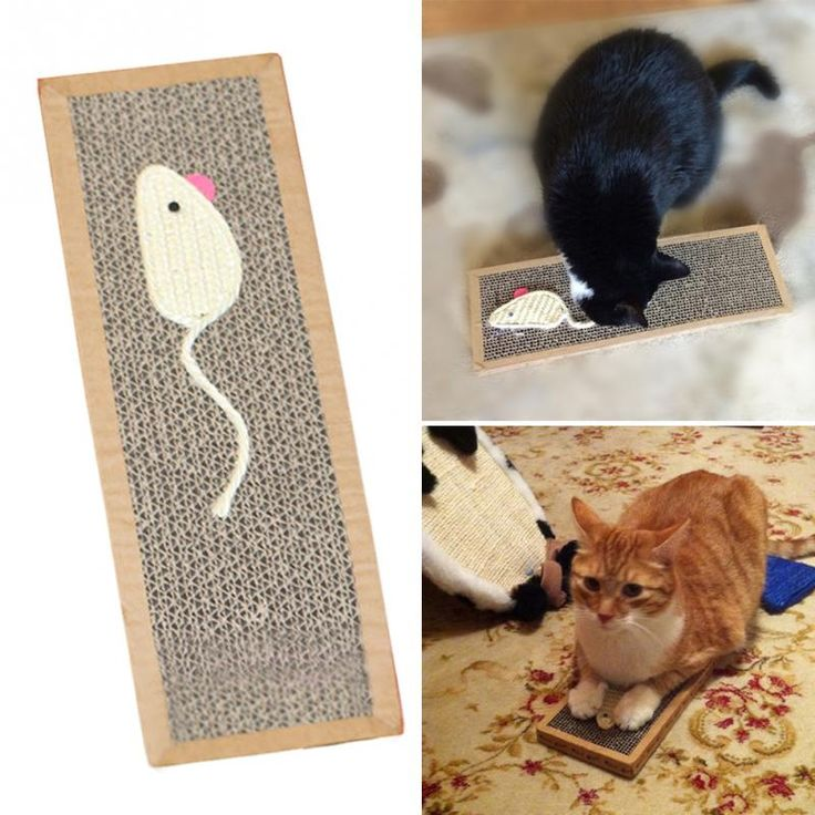 Cat Mouse Play Toy With Scratching Post Pad