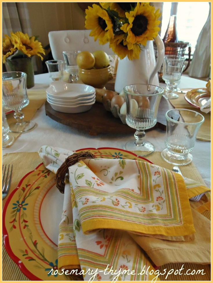 Provençal breakfast table (1) From: Rosemary Thyme Blogspot, please visit