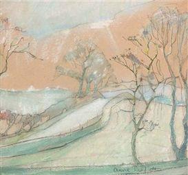 Artwork by Anne Redpath, A borders landscape