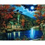 Plaid Paint by Number 16 in. x 20 in. 22-Color Kit Lakeside Cabin Paint by Number