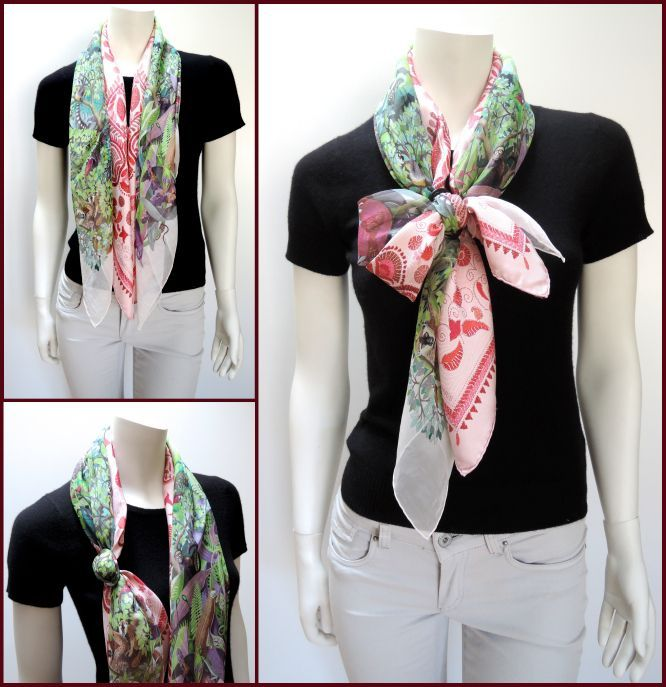 MaiTai's Picture Book: Double scarves, double fun: Criss-cross bow knot