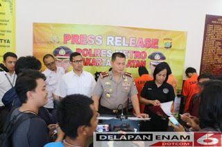 JAKARTA  – Kapolres Metro Jakarta Selatan KOMBES Pol Mardiaz K Dwihananto. SIK.MHum di dampingi Kasat Reskrim AKBP Bismo Teguh dan Kaur Huma...