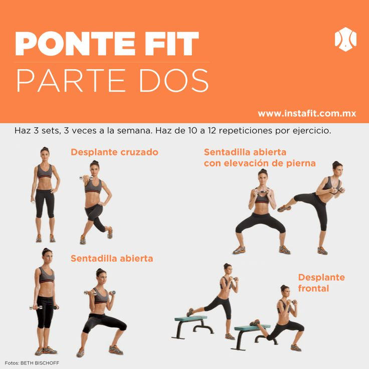 118 best images about ejercicio on pinterest workout for Rutina fitness
