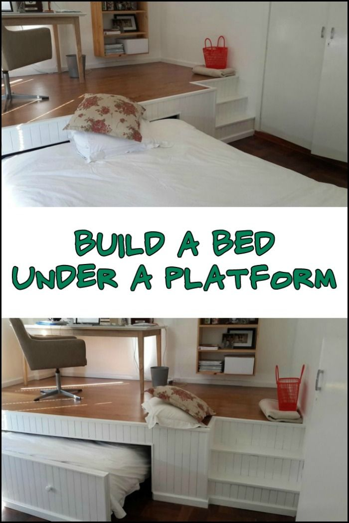 How To Build A Pull Out Bed Under A Platform Floor Kids Rooms