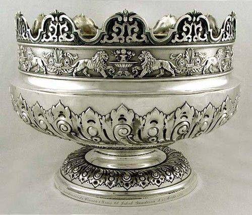 English silver bowl, 1685