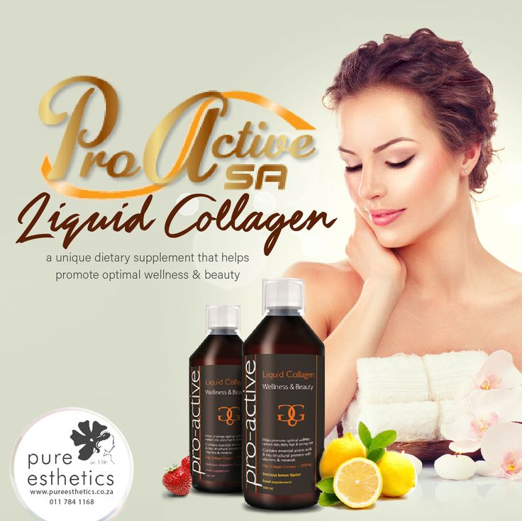 Pro-Active Liquid #Collagen a unique dietary supplement that helps promote optimal wellness and beauty For more information or a booking please contact us at +2711 784 1168 @Proactivesa1