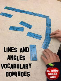 This geometry math center is a great way for students to practice math vocabulary! It has 15 geometry lines and angles vocabulary words. Words included are: Line, point, ray, obtuse angle, acute angle, right angle, straight angle, reflex angle, line segment, intersecting, right triangle, scalene triangle, perpendicular, equilateral triangle, and parallel.