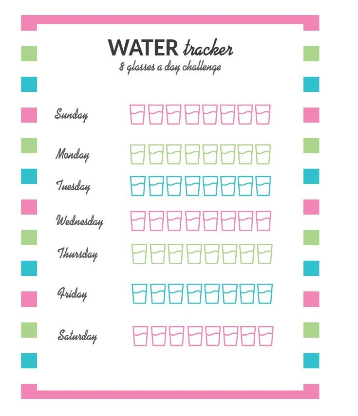 Water Tracker Template Printable Monthly Calendar Templates