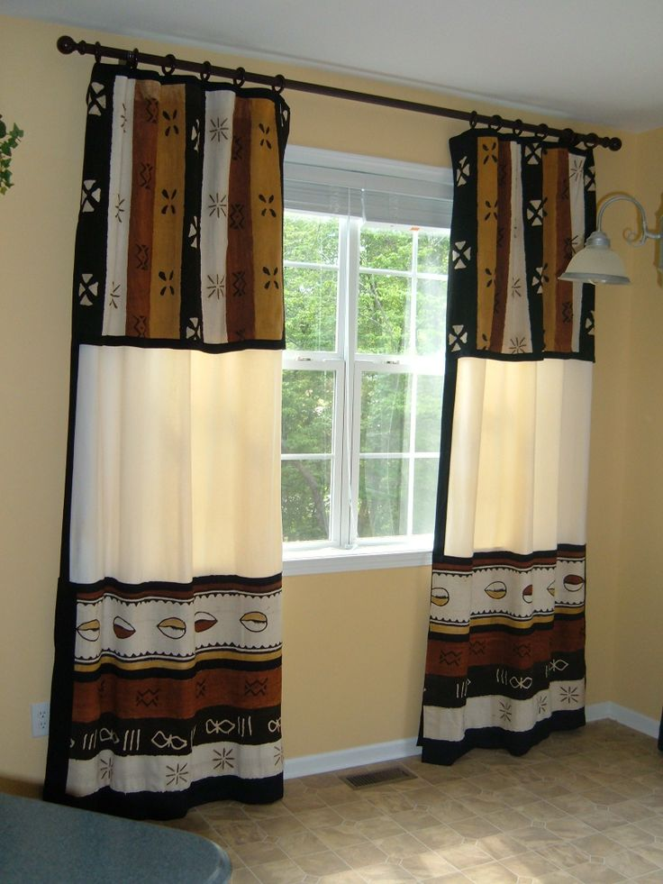 african mud cloth window treatments cortinas y cenefas