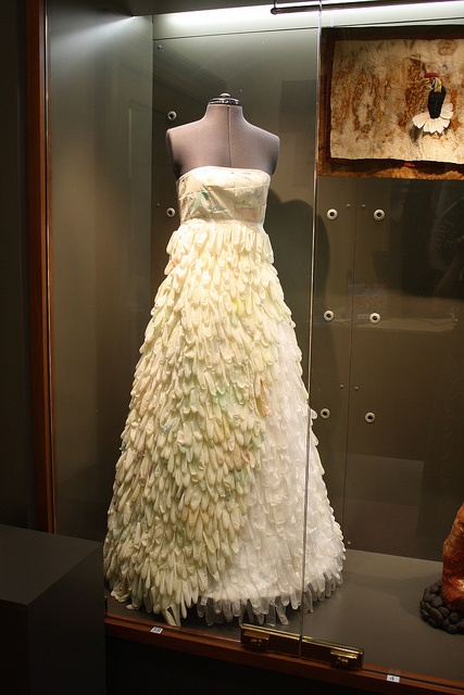 Can you believe this dress is made from rubber gloves?