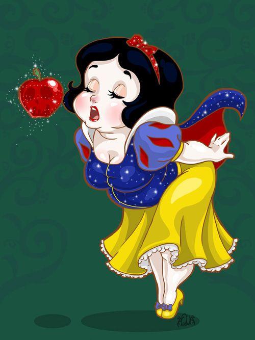 Cute Plus-Size Disney Princesses Fan Art http://geekxgirls.com/article.php?ID=6698