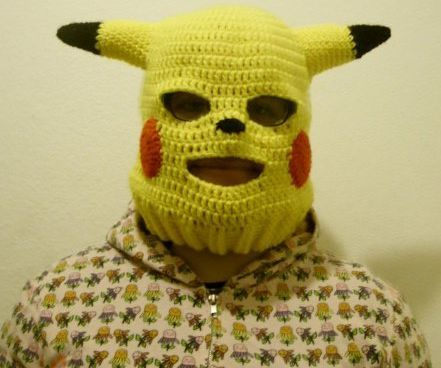 Yikes! Horrifying Pikachu Ski Mask Provides Protection From the Elements, Nightmares