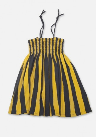 love love love the charcoal and yellow stripes! bobochoses Dress/Skirt smoke Stripes