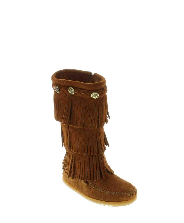 Minnetonka 3 Layer Fringe Kids Boots