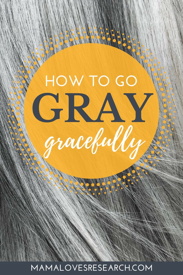 How to go gray gracefully - making the transition to gray hair