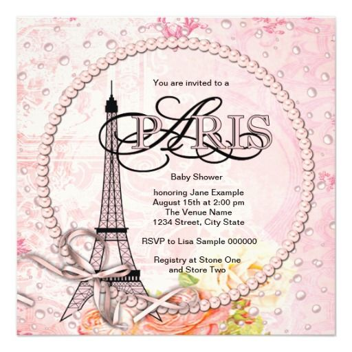paris baby shower invitations for a paris in springtime baby shower