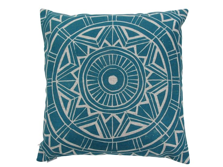 Cut out cushion cover in black or blue | hardtofind.