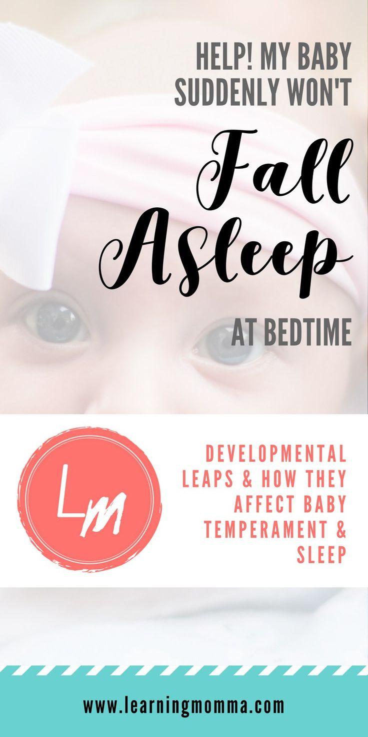 Developmental leaps / suddenly fussy baby / baby suddenly won't sleep / baby resisting sleep / overstimulated baby / wonder weeks / clingy baby #fussybaby #babywon'tsleep