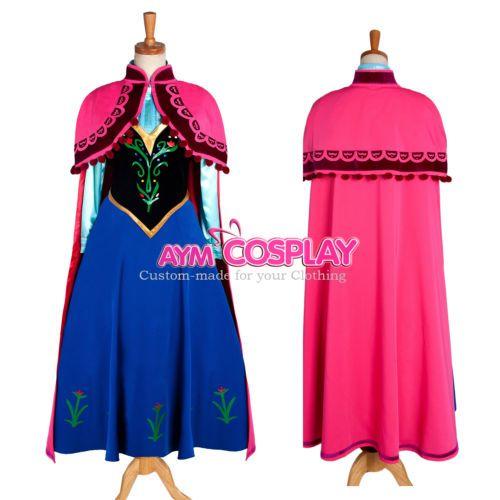 Disney Frozen - Anna dress Movie Costume cosplay [G1224 ...