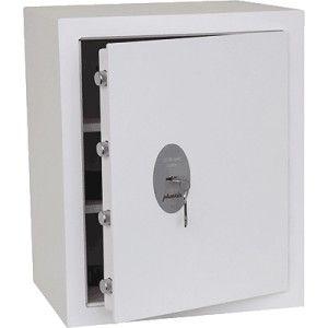 Caja de seguridad para guardar gran cantidad de objetos de valor y dinero de posibles robos.  Equipada con una cerradura de alta seguridad VDS clase 1.  Capacidad: 43 Litros