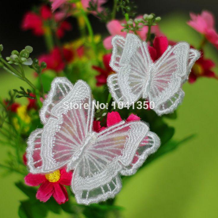 10 stuks 2 gemengd formaat gratis verzending scrapbooking producten 3d vlinder appliques organza bruids afwerking naaien op kant plekken in productinformatieStaat: 100 % gloednieuwePakket: opp zak, 10 stuks/veel( gemengd 2 maat, elke grootte  van patches op AliExpress.com | Alibaba Groep