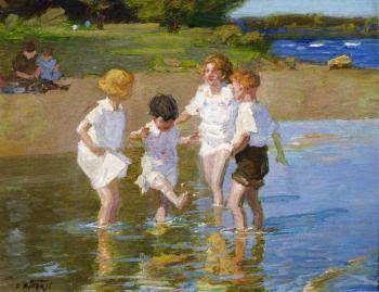 Edward Potthast (1857-1927), Καλοκαιρινά παιχνίδια. Ιδιωτική Συλλογή.