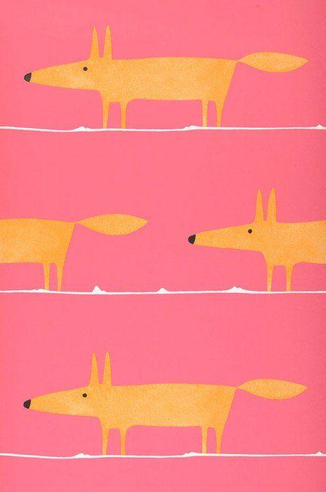 What does the Fox say | Tapeten der 70er