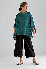 PANTS WITH RUSCH IN FRONT HEM & Airstream Sweater $228 by Amy Brill